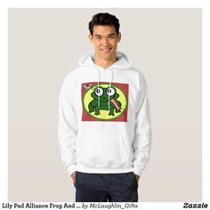 Lily Pad Alliance Frog And Fly Unite Hoodie - fun gifts funny diy customize personal Stylish Hoodies, Lily Pad, Stylish Men, Cool Gifts, A Team, Diy Funny, Shopping