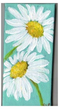 Simple Canvas Paintings, Small Canvas Art, Cute Paintings, Easy Canvas Painting, Diy Canvas Art, Canvas Ideas, Flower Paintings, Trippy Painting, Canvas Canvas