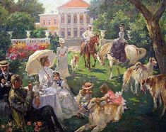 Vladimir Pervunensky. A Summer Day at the Manor 2006