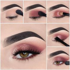 Here we have compiled simple eye makeup tips pictures. They can help you become an eye makeup expert. You can also easily get the perfect eye makeup. Makeup Eye Looks, Eye Makeup Steps, Simple Eye Makeup, Brown Skin Makeup, Dark Makeup, Blue Eye Makeup, Sparkle Makeup, Glitter Makeup, Make Up Marken