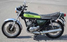 KAWASAKI 500 Mach III - The first bike that I ever really really wanted…                                                                                                                                                                                 More