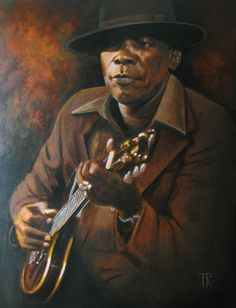 John Lee Hooker by Theo Reijnders Art Music, Music Artists, Jazz Artists, African American Quotes, John Lee Hooker, The Blues Brothers, Delta Blues, Blue Poster, Blues Artists