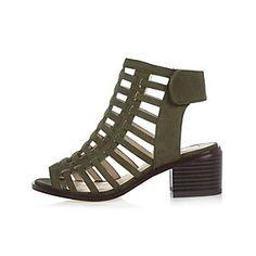 2bd8506097a6 Girls khaki caged heel sandals  44.00 Girls Shoes