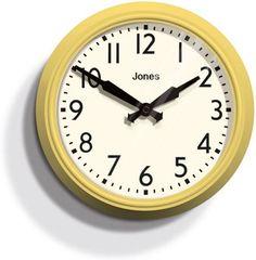 Jones Yellow 'The Apollo' wall clock | Debenhams