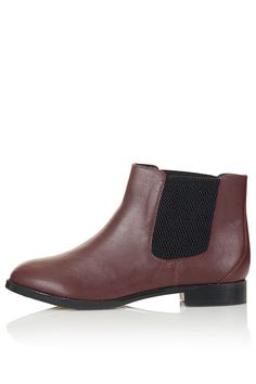 MAP LEATHER CHELSEA BOOTS #topshop