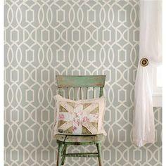 Gray Grand Trellis Peel And Stick Wallpaper by NuWallpaper
