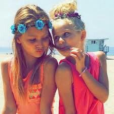 Ruby Rose Turner and her sister