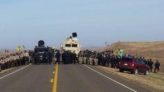 Late October prior to arrest of hundreds of water protectors.