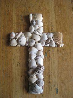 Make your own seashell cross!