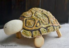 3d turtle cookie, just cookie and hand painted royal icing!