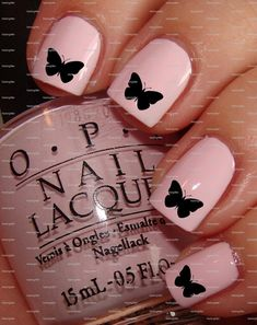 Black Butterfly Nail Art Nail water decals Nail wraps Nail transfers on Etsy, 1,87€