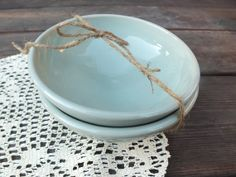 Simple Celadon Blue Bowls Set of Two by CambrianParkPottery, $16.00