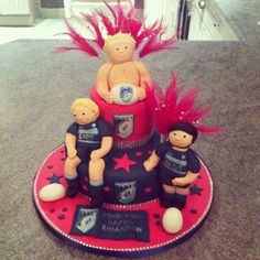 Cardiff Blues rugby cake, with a bit of bling