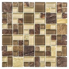 Jeffrey Court Native Ocean 12 in. x 12 in. x 8 mm Marble Mosaic Wall Tile