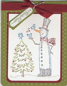 Merry Snowman by kamakaz1gb - Cards and Paper Crafts at Splitcoaststampers