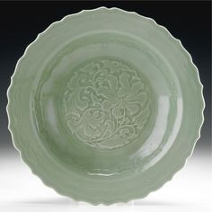 A CHINA CELADON DISH, 18TH CENTURY