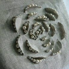 Ideas Embroidery Designs Fashion Embellishments Texture For 2019 Couture Embroidery, Flower Embroidery Designs, Ribbon Embroidery, Embroidery Stitches, Embroidery Patterns, Sewing Patterns, Embroidery Art, Embroidery Techniques, Sewing Techniques