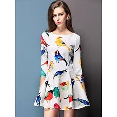 Women's  New Spring Flower Dress - USD $ 41.99