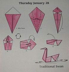 3D Origami Swan  Free Origamii Instruction  DIY origami