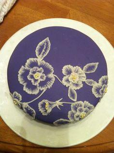 brushed embroidery cake - brushed embroidery cake