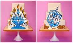 Hanukkah cake!