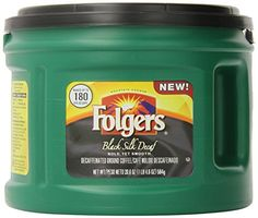 Folgers Black Silk Decaf Ground Coffee 206 Ounce -- Check this awesome product by going to the link at the image.