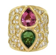 Marina B Tourmaline and Diamond Cocktail Ring