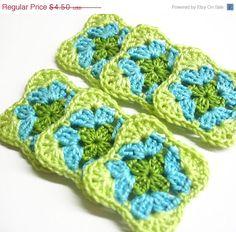ON SALE Handmade crocheted granny square by KikamoraCrafts on Etsy, $4.05