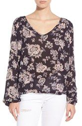 Billabong 'Distant Roads' Floral Print Top