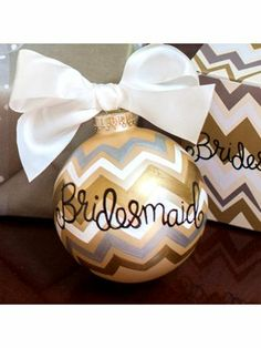 Would be a cute gift, or a new tradition. Each year as you are decorating for the holidays, sit down as a family and make ornaments representing big events or accomplishments from that year. Add the year to the ornament