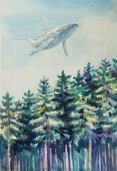 кит у небі