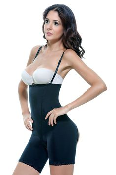 e2a073f2d5 Vedette 504 Bodysuit Girdle Shaper Butt Enhancers Open Bottom Strapless  Control