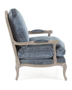 Shop Riveria Bergere Chair at Horchow, where you'll find new lower shipping on hundreds of home furnishings and gifts. Paint Furniture, Custom Furniture, Furniture Making, Furniture Chairs, Bergere Chair, Home Entrance Decor, Home Decor, Kitchen Table Chairs, French Country Living Room