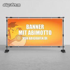 Abi-Banner: Schreit euer Abimotto in die Welt hinaus mit dem Banner von abigrafen.de! Zieht alle Augen auf euch und euren Abschluss!