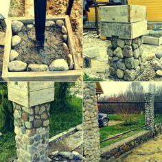 Даже из неровного камня можно сделать идеальные столбы для забора   СТРОЙСОВЕТ   Яндекс Дзен