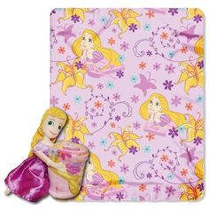 Disney, Rapunzel, Rapunzel Fleece Blanket with Character Pillow by The Northwest Company, Pink Disney Rapunzel, Rapunzel Room, Tangled Rapunzel, Frozen Disney, Cuddle Pillow, Pillow Set, Plush Pillow, Tangled Princess, Princess Party