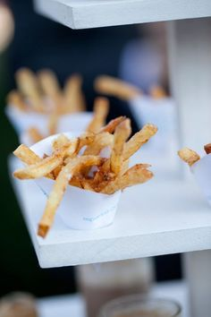 French Fry Cone Display