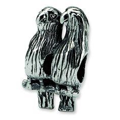 Sterling Silver Reflections Love Birds Bead