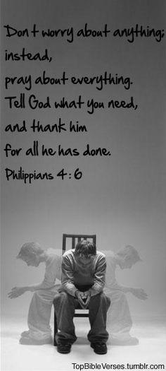 Philippians 4:6 -