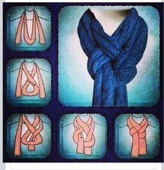 ways to tie a scarf!