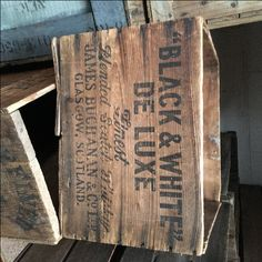 CRA0014 CRATE, Vintage - Black & White Deluxe Signage  $18.75