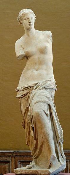 Aphrodite of Milos (Venus de Milo), The Louvre Museum, Paris, France