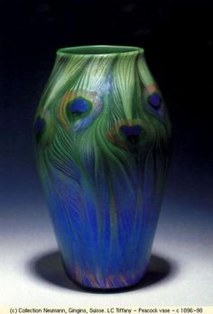 Louis Comfort Tiffany, Tiffany Glass and Decorating Company . Vase, ca. The Metropolitan Museum of Art, Gift of Louis Comfort Tiffany Foundation.B, you should see all of the peacock stuff I found on ETSY! Peacock Decor, Peacock Colors, Peacock Art, Peacock Feathers, Peacock Bedroom, Peacock Pattern, Jewel Colors, Colours, Louis Comfort Tiffany