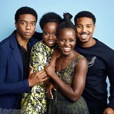 These faces! That talent! The beautiful cast of Black Panther