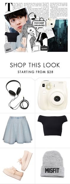 """""""Battle of the Kpop UB's Audition"""" by delicatekissestoloki ❤ liked on Polyvore featuring Molami, American Eagle Outfitters, Fujifilm, Topshop, Michael Kors and Monki"""