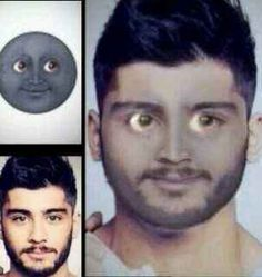 Face morphs with celebrities: | 25 Incredibly Perfect Uses Of The Moon Emoji wtf.