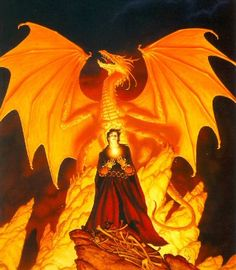 This is the cover from a book I read years ago by Melanie Rawn - Sunrunner's Fire - FANTASTIC series and amazing art from Michael Whelan