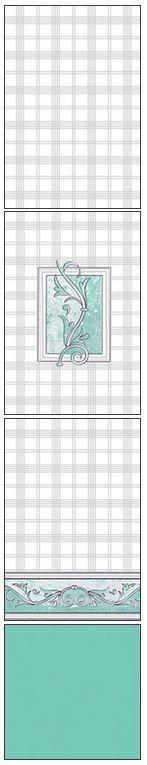 Millennium Tiles 200x300mm (8x12) Luster Concept Design Ceramic Wall Tiles - 212 - 214 - 213 - Aqua Marine
