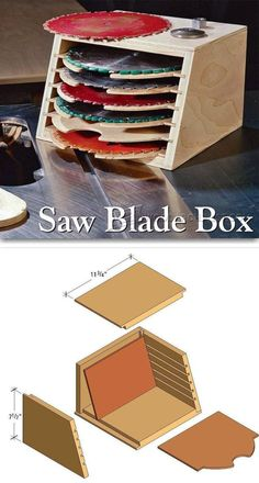 Saw Blade Storage Box - Table Saw Tips, Jigs and Fixtures | WoodArchivist.com