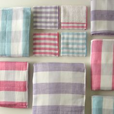 Gingham check Towels
